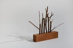 Gathering, 2002, wood, 25 x 35 x 15 cm