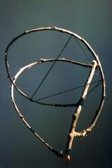 Bending/Binding, 1991, wood, 60 x 50 x 50 cm