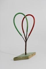 Bending/Handling, 1994, guma, papír, 90 x 45 cm