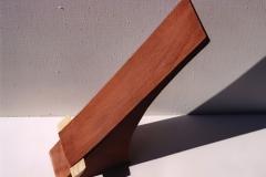 Inlaying II, 1992, wood, 40 x 8 x 7 cm
