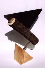 Inserting, 1997, metal, wood, 30 x 20 x 5 cm