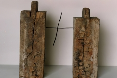 Splitting / Joining, 1991, wood, metal, 55 x 60 x 18 cm