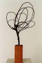 Bending, 1998, wood,  70 x 35 x 35 cm
