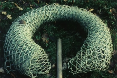 Forming I, 1993, PVC net, 170 x 170 x 25 cm