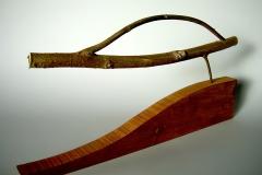 Tuning, 1997, wood, , 40 x 70 x 5 cm