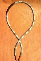 Twisting II, 1993, rubber, paper, wood,  90 x 40 cm