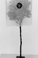 Wrapping, 1999, natter, paper, 55 x 17 x 7 cm
