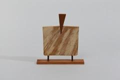 Wedging II, 1998, wood, 27 x 25 x 6 cm