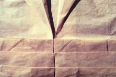 Folding – Decomposing, 1992, parchment paper, 70 x +100 cm