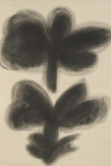 Powdering – rubbing, 1989, soot, 200 x 120 cm