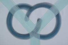 Fork – inside, 1991, Pastel chalk, enamel on paper, 50 x 65 cm